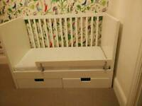 Ikea Stuva cot bed with drawers