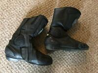 Motorcycle boots, leather