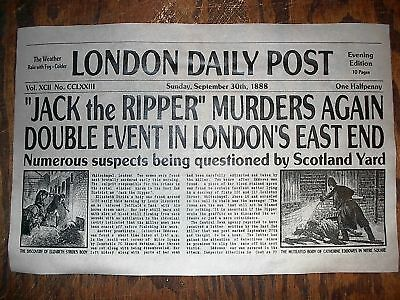 NOVELTY POSTER HALLOWEEN JACK the RIPPER LONDON SERIAL KILLER 18