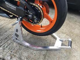 Rear Motorcycle / Bike Alloy / Aluminium Universal Paddock Stand - Track