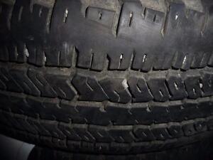 4 pneus d'été, 235/75/17 Hankook Dynapro AT , 35% d'usure, 8/32 de mesure