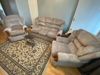 3 seater + recliner armchair + armchair