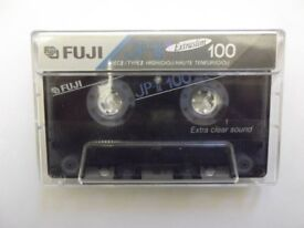2 Fuji JPII C100 Chrome cassettes - Made in Japan - recorded once, now blank & ready to record