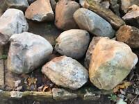 Rockery rocks and boulders of various sizes and prices