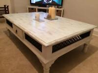 Coffee table (large, refurbished mahogany)