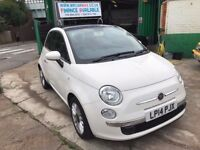 2014 FIAT 500 AUTOMATIC TWINAIR LOUNGE 875CC PETROL £0 ROAD TAX 16500 MILES, FINANCE £168 PER MONTH