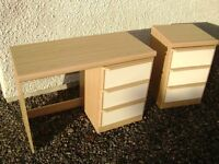 Dressing Table and Bedside Cabinet in very good condition