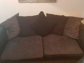 2 three seater dfs sofas