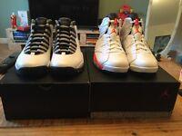 Air Jordan 6 White/Infrared- Black & Air Jordan 10 Steel Grey