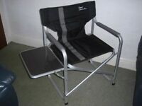 Picnic, camping, fishing aluminium folding chairs with side tables.