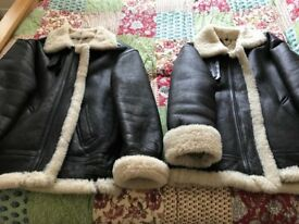 2 Genuine leather /Sheepskin Coats