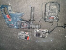 Bosch 36v sds with 2 batteries and charger