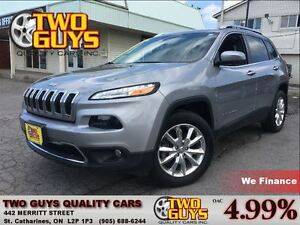 2016 Jeep Cherokee Limited 4WD LEATHER NAVIGATION BACK UP CAMERA
