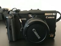 Canon Powershot G5 with memory card, battery and charger