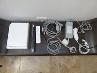 Nintendo Wii Console with Nunchuk and Controller