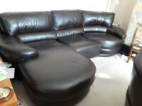 Leather Sofa and matching recliner chair