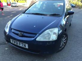 Honda Civic 2002 1.6 petrol one owner