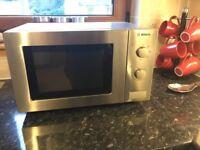 Bosch microwave 800w steel finish