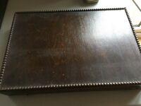 Dark wooden box