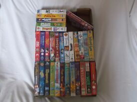 FABULOUS JOB LOT OF 30 CHILDRENS DISNEY CLASSIC ,WARNER BROTHERS VHS VIDEO TAPS