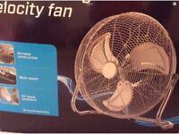 Moretti 18'' oscillating velocity fan (like new)