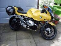 BMW R1200S Sports motorbike, low miles, with luggage