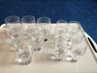Bubble stem glasses