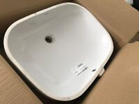 Duravit D-Code Vanity basin Model-No. 033856 Under counter Sink