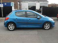 Peugeot 207 5 door lovely blue e/windows cllocking ac drives spot alloy wheels low insurance