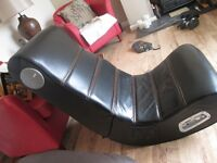 AS NEW LEATHER GAMES CHAIR