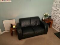 Barker and Stonehouse Natuzzi leather sofa and 2 chairs