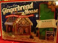 Gingerbread house biscuit molds