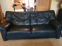 2 matching leather sofas (one large, one small). £260 for large, £160 for small