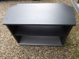 TV stand with 2 shelves and glass doors
