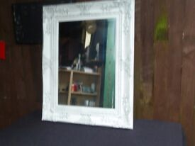 Brand New Large White Detailed Mirror Delivery Available