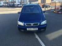 2004 vauxhall zafira petrol 11 months mot and 3 months tax very good engine and gearbox any test