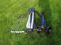 Junior Golf Clubs, Case and Trolley