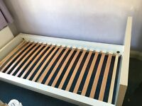 Single bed frame, IKEA, white