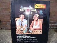 A Sunn camp Table top patio heater