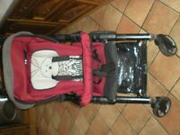 FOR SALE - JANE Cross R Pushchair/Stroller inc Raincover & Foot Muff
