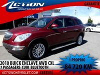 2010 BUICK ENCLAVE CXL AWD CUIR  7 PASSAGERS  1 PROPRIO