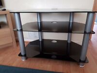 Dark Glass TV Stand - Excellent Condtion - takes TV upto 42""