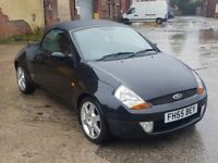 2005 FORD STREETKA CONVERTIBLE, 1.6 PETROL MANUAL, ONLY 64K, FULL SERVICE HISTORY, DRIVES FAULTLESS