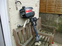SMALL YAMAHA OUTBOARD MOTOR SPARE OR REPAIR ONLY