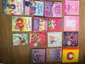 Beautiful selection of girls story books, 15 but more as additional stories inside a few!