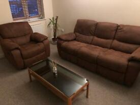 Recliner sofa and rocky chair set