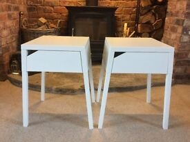 2 x IKEA White Bedside / Bedroom Tables in Very Good Condition