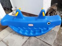 Little Tikes see saw outdoor rocker