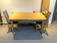 Used dining table with 2 chairs