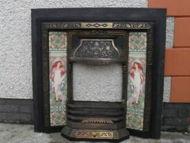 Cast Iron fireplace with tile insert